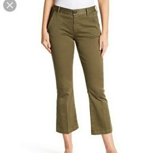 Frame OLIVE Le Crop Mini Boot Flare Trouser Pant 9